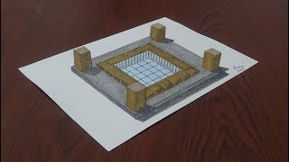 3D Havuz   3D pool   3D Havuz nasıl yapılır    How to draw 3d pool