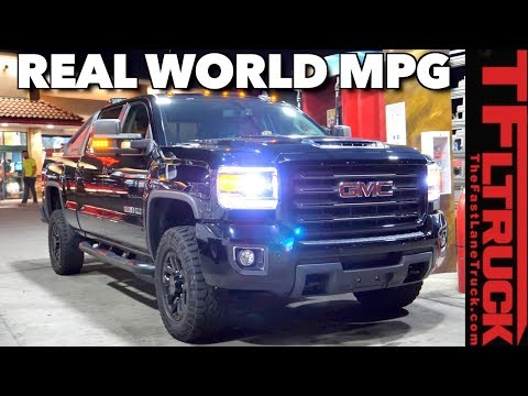 How Far Can You Go On A Tank Of Diesel? GMC Sierra HD Real World Test