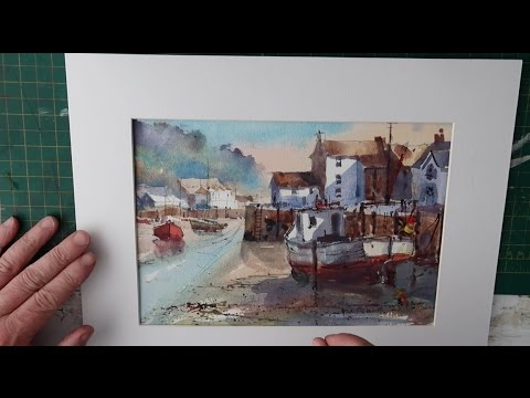 How To Paint Cornish Harbour Polperro watercolour full  lesson  Cornwall
