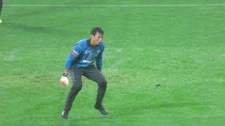 サッカー日本代表GK・ガンバ大阪 東口順昭選手の試合前練習 対浦和レッズ