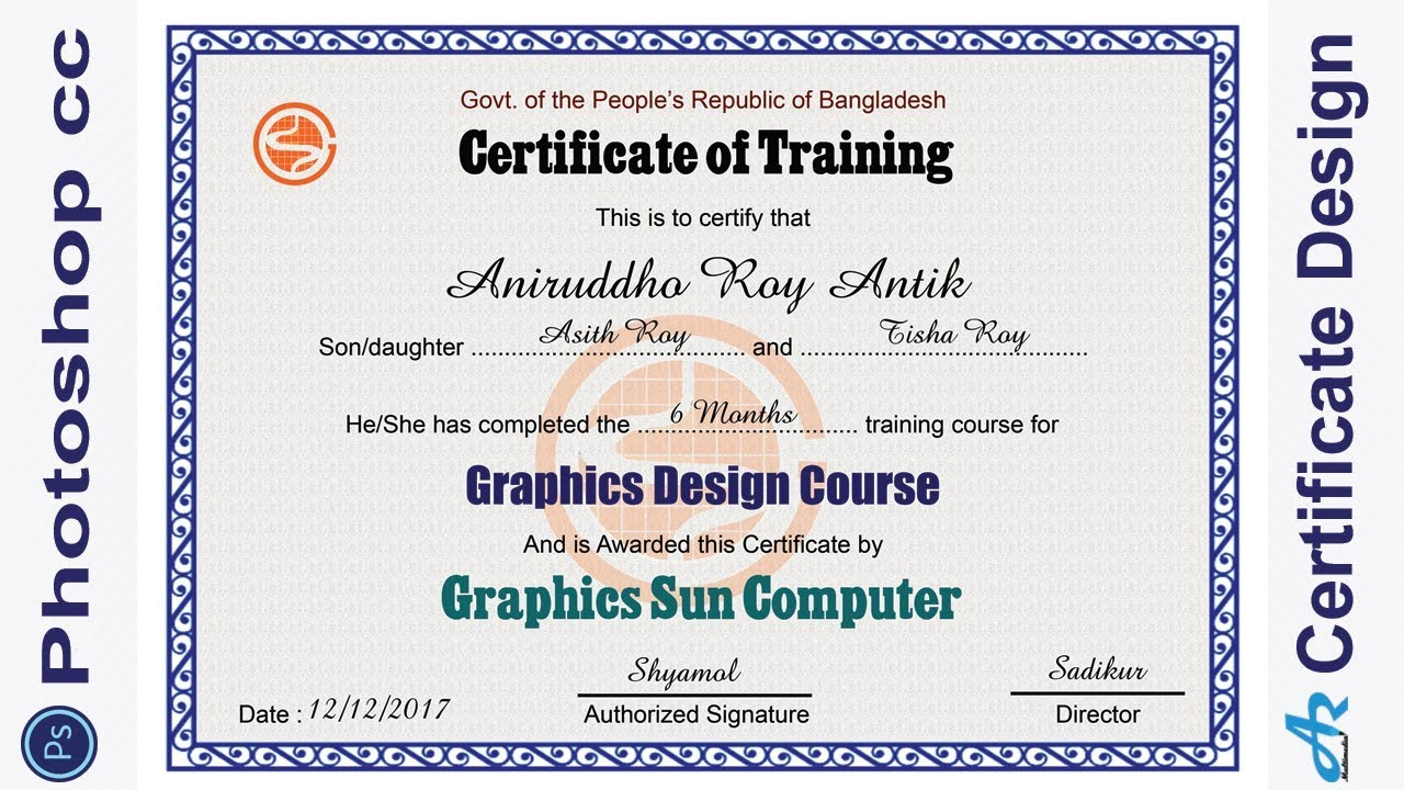 Photoshop cc Tutorial: Certificate Design in Photoshop ...