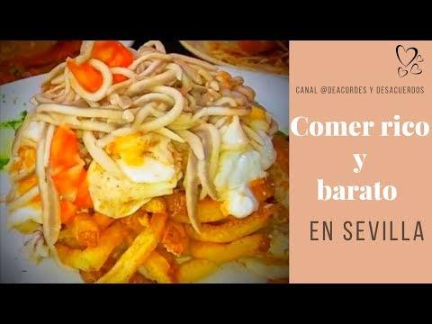 💕2 Restaurantes donde comer barato en Sevilla 😘