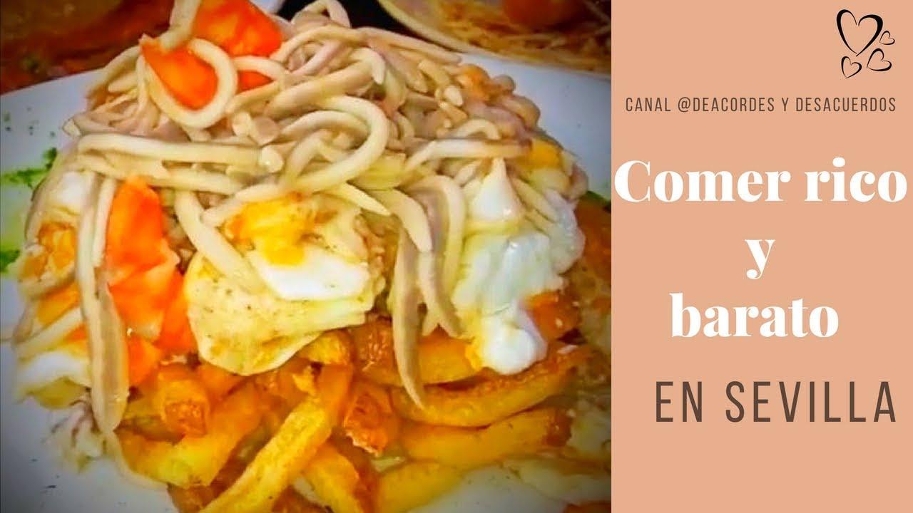 2 Restaurantes Donde Comer Barato En Sevilla Youtube