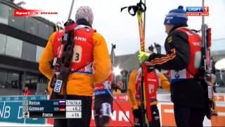 Сумашедшая победа ШИПУЛИНА!!!!! биатлон 15.02.2015 мужчины эстафета