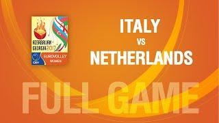 Italy vs Netherlands | QUARTERFINALS | EUROVOLLEY AZERBAIJAN AND GEORGIA 2017