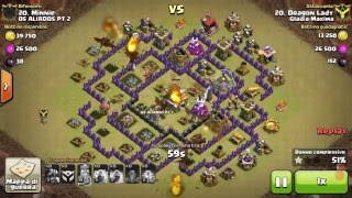 Clash of Clans TH8 VS TH8 Draghi by Dragon Lady 01