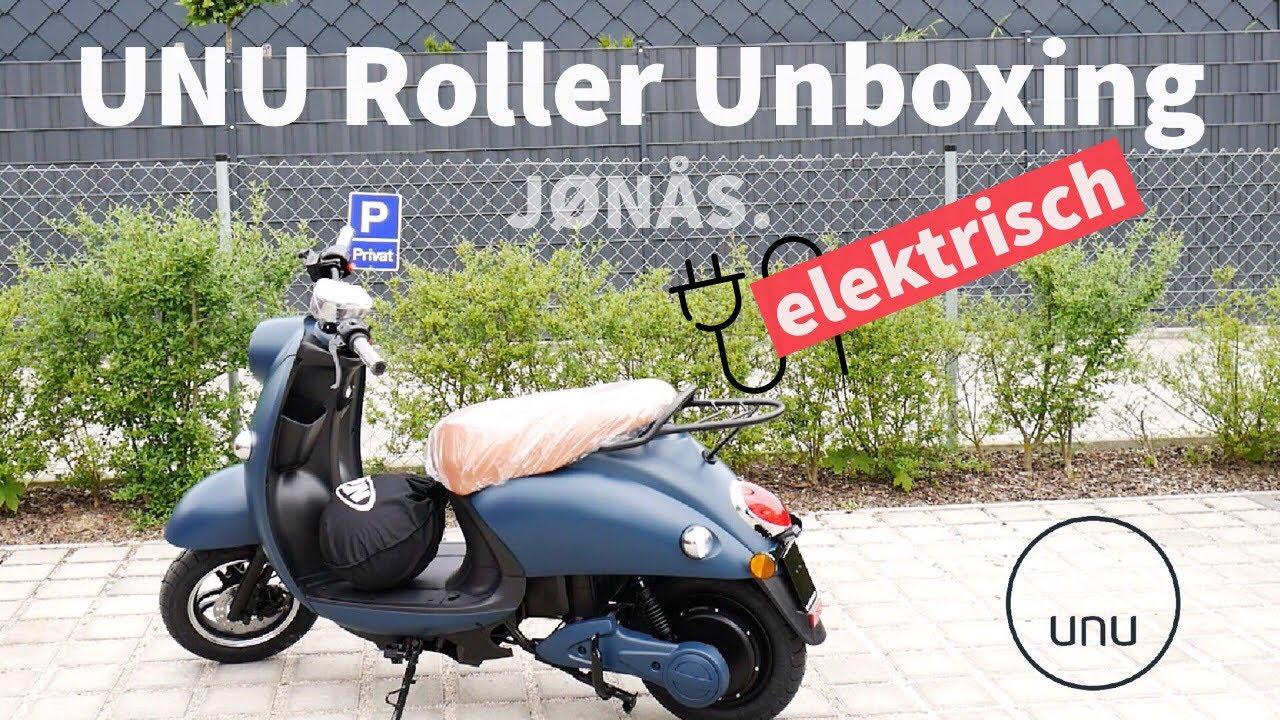 elektro roller unu 2018 unboxing einrichten und erster. Black Bedroom Furniture Sets. Home Design Ideas