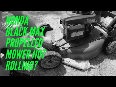 honda black max propelled mower wheels not turning youtube