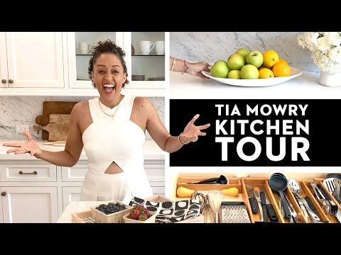 NEWFACE MAGAZINE LV MEDIA FEATURING: Tia Mowry Shows Us Her Perfectly Organized Kitchen | Good House