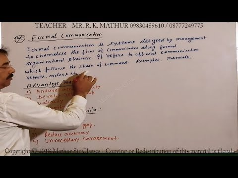 Formal Communication With Advantages And Disadvantages | Business Communication | Business Studies