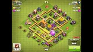 Clash of Clans TH6 - Farming Attack - 570k (313k gold/261k elixir) - OLD FOXES