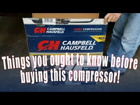 CAMPBELL HAUSFELD AIR COMPRESSOR UNBOX & 1 YR REVIEW