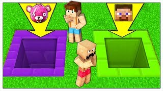 DON'T FALL INTO THE WRONG HOLE OF THE  VIDEO GAMES! - MINECRAFT ITA