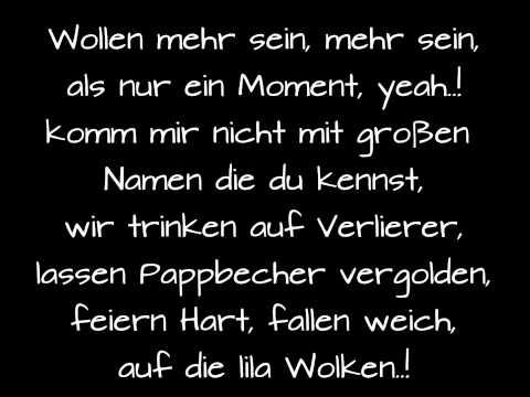 Marteria, Yasha & Miss Platnum - Lila Wolken (Lyrics)