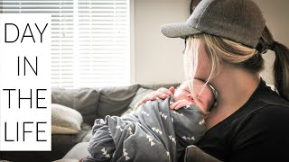 DAY IN THE LIFE WITH A NEWBORN | Breastfeeding Schedule