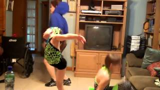 Family Fun Dancing While Nanny Tricia Cooks Dinner