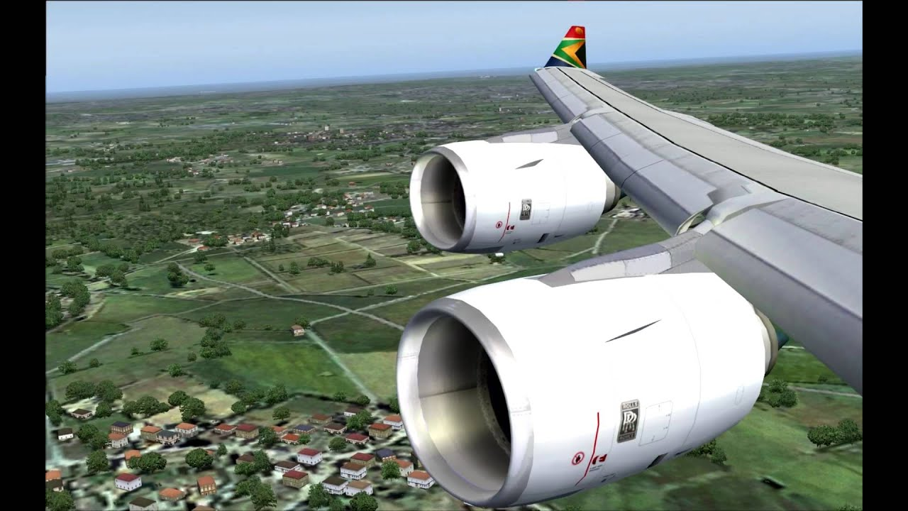 FS2004 South African Airways Johannesburg to London