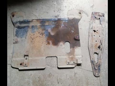 MATIZ покраска защита картера двигателя