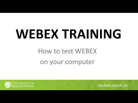 WEBEX How to test it on your computer - YouTube
