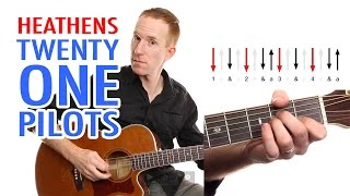 Heathens ★ Twenty One Pilots ★ Guitar Lesson - Easy How To Play Acoustic Songs - Chords Tutorial