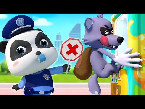 Big Bad Wolf and Drinks Vending Machine   Police Cartoon   Learn Colors   Kids Songs   BabyBus