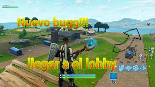 How to get to the lobby island in Fortnite battle royale New bug!!