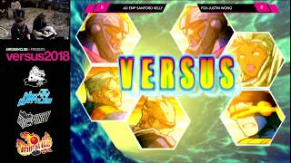 Versus 2018 - Marvel vs Capcom 2 Exhibition FT10 - Sanford Kelly vs Justin Wong [1080p/60fps]