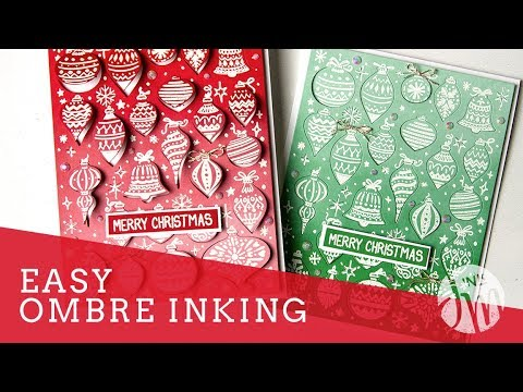 Easy Ombre Inking
