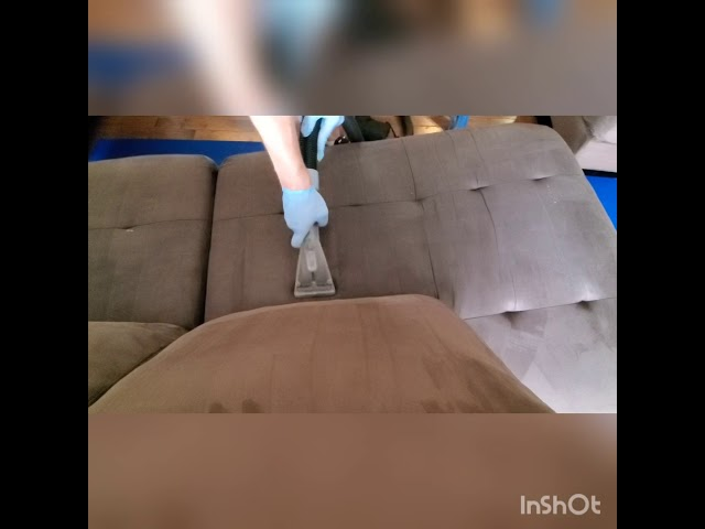 Heavily soiled sofa cleaned ,customer said it looks amazing