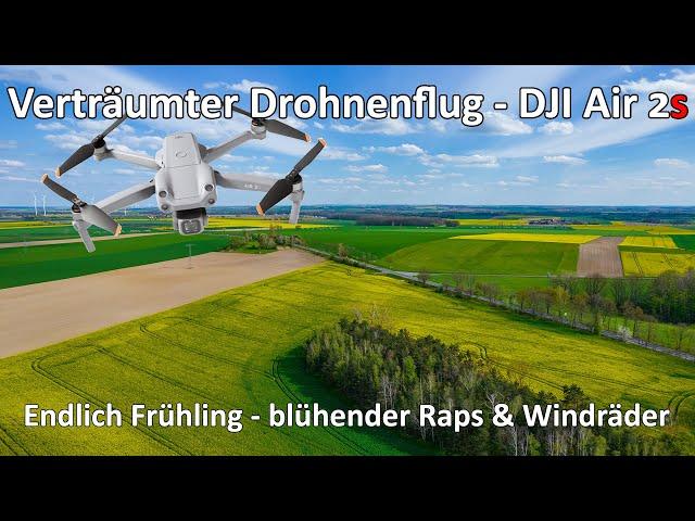 Verträumter Drohnenflug mit der DJI Air 2s - Endlich Frühling - Blühender Raps, & blühende Obstbäume