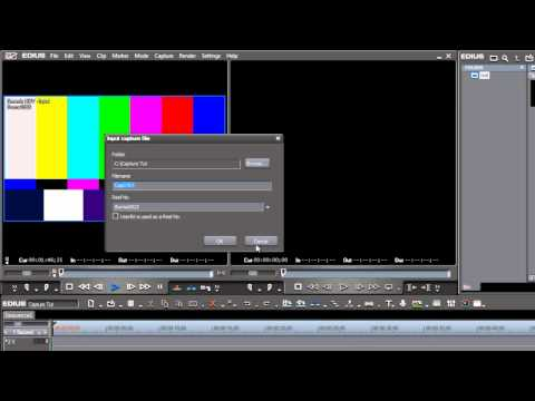 07. Capturing Media from a Camera or Deck (Easy Editing with EDIUS)