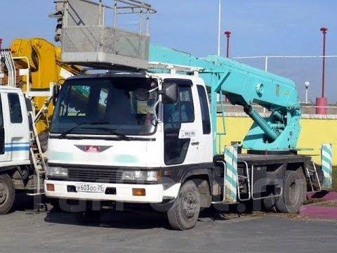 Японская автовышка 24 метра установка Aichi SK240 на базе Hino Ranger