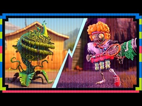 "PVZ Garden Warfare 2: ""SERVE AND VOLLEY"" Mystery Portal Gamemode! (Tennis Star vs Chomp Thing)"