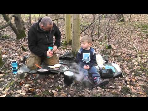 In Woods with my Grandson feb 2014
