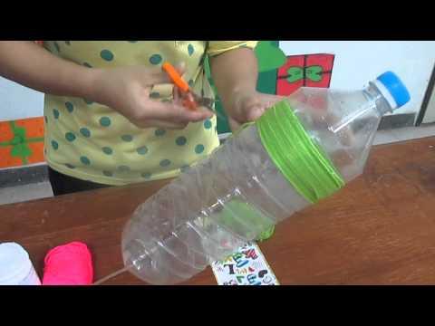 สาธิตการทำบัวรดน้ำจากขวดพลาสติก