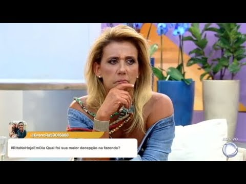 Rita Cadillac Responde Perguntas Dos Internautas Do Hoje Em Dia