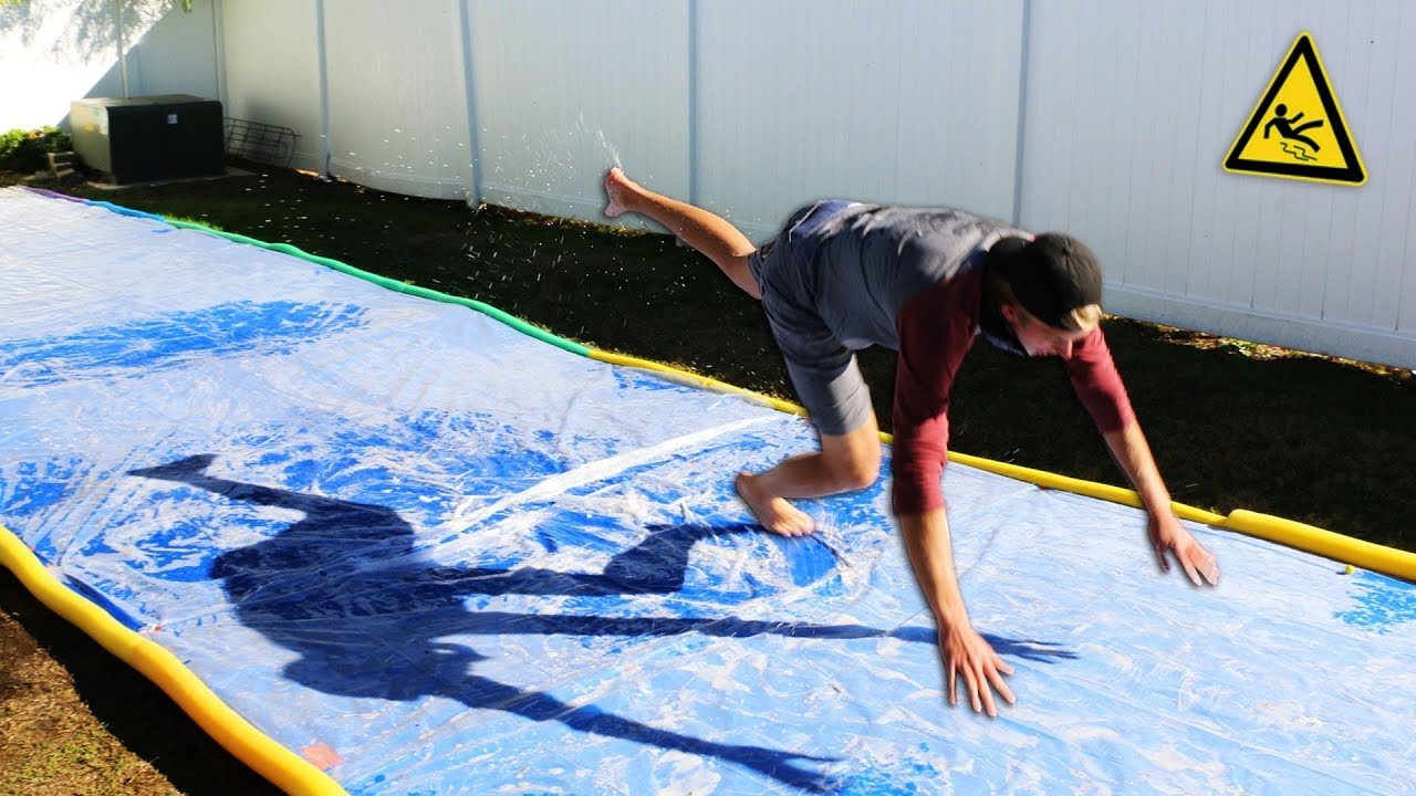 dont-slip-on-the-slippery-platform-giant-slip-n-slide-challenge