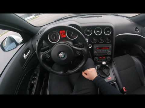 Alfa Romeo 159 Test Drive OnBoard GoPro POV LED Angel eyes COB 100kw 2.0 JTDm HALO