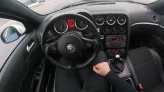 Alfa Romeo 159 Test Drive OnBoard GoPro POV LED Angel eyes COB 100kw 2.0 JTDm HALO