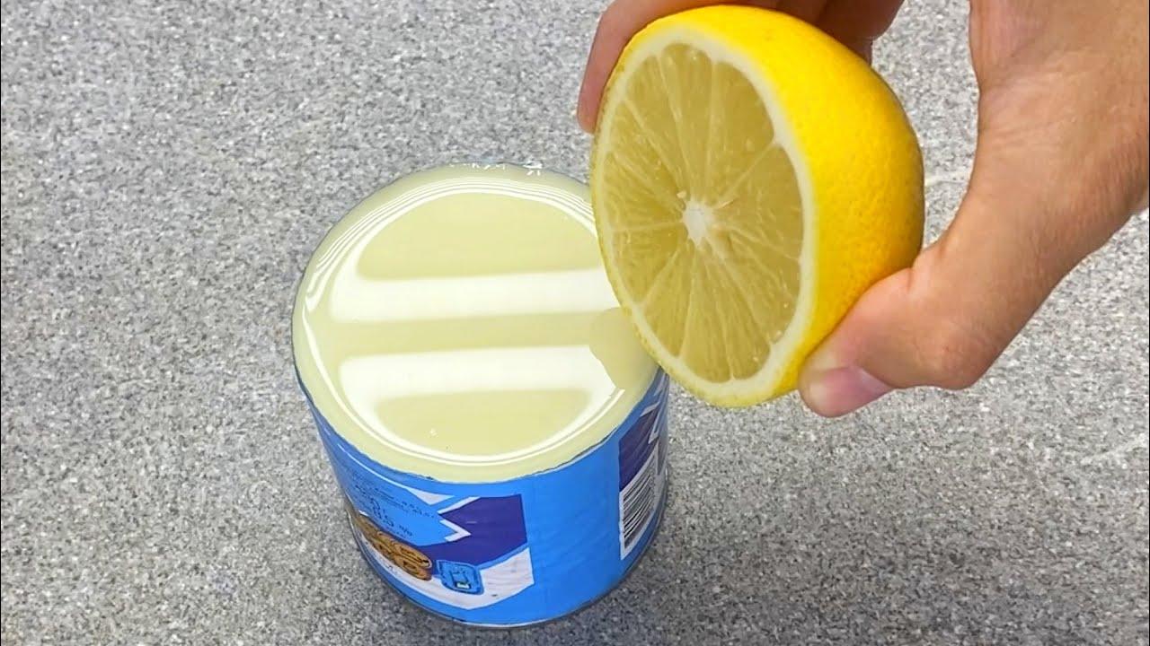 Mischen Sie Kondensmilch und Zitrone und Sie werden es lieben! Cremige Kondensmilch-Mousse. #191