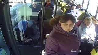 Липовая льготница бросается на водителя автобуса.