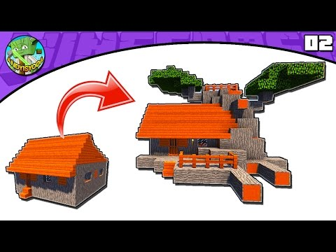 Minecraft Tutorial: Transform an Acacia Village L-Shape House