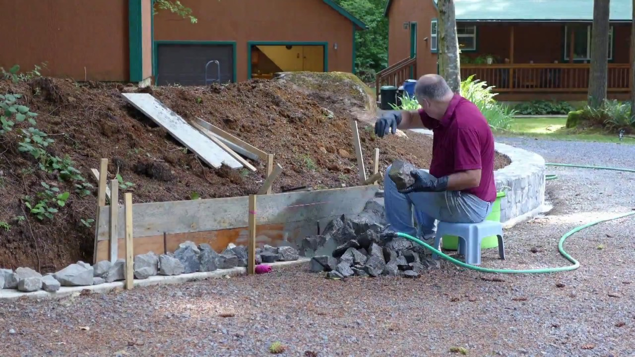 Build Rock Retaining Wall Mortar