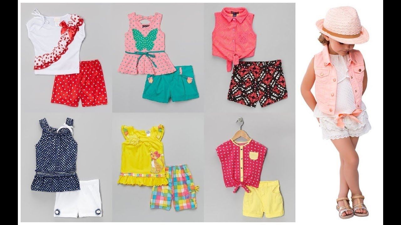 Baby Girl Summer Cloth With Cotton Shorts=Little Girl Dress Sets Outfit Ideas 2019-20