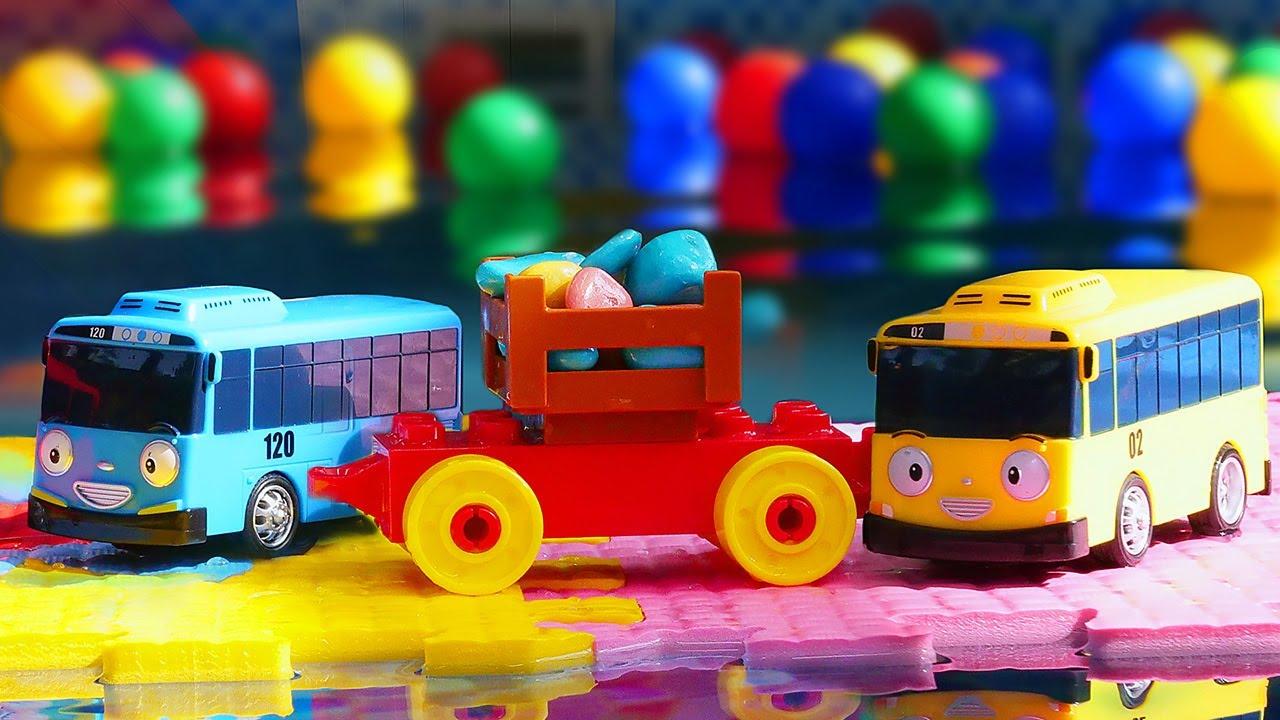 Маленький автобус Тайо и друзья нашли клад! — Паром ...