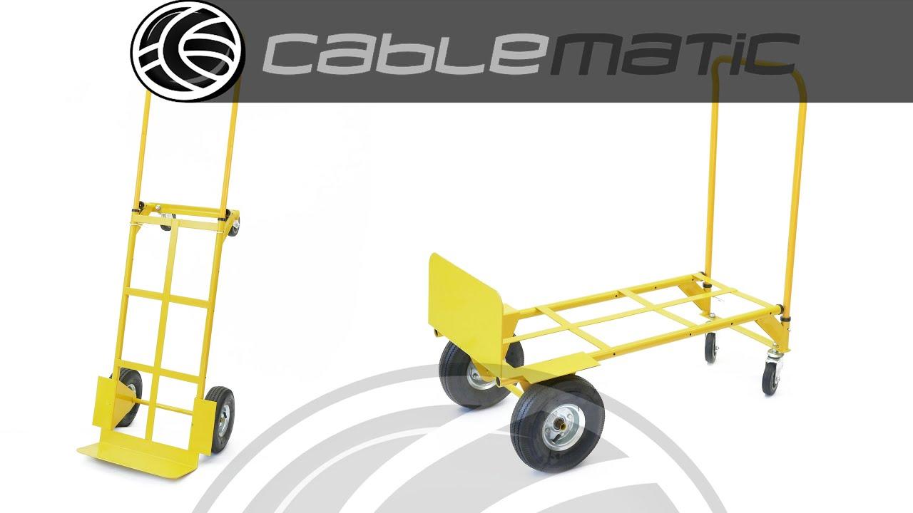 Carretilla convertible a plataforma de 167cm y carga 200 - Carretillas de carga ...