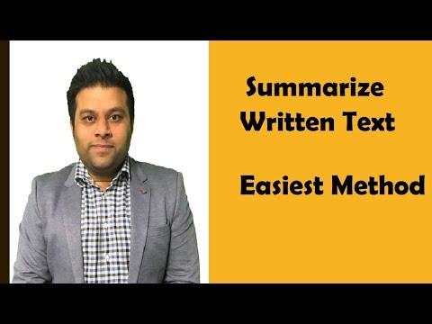 Summarise Written Text