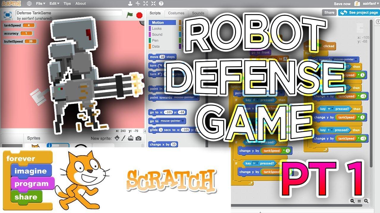 Scratch Tutorial: Robot Defense Game! (Part 1)
