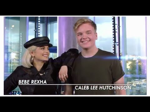 """Bebe Rexha and Caleb lee Hutchinson duet """"Meant to be"""" American Idol 2018"""