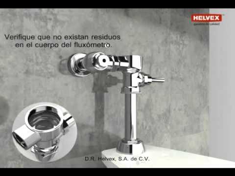 Instalaci n de un flux metro para sanitario youtube for Partes de un grifo